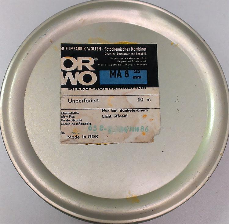 Testing ORWO MA-8