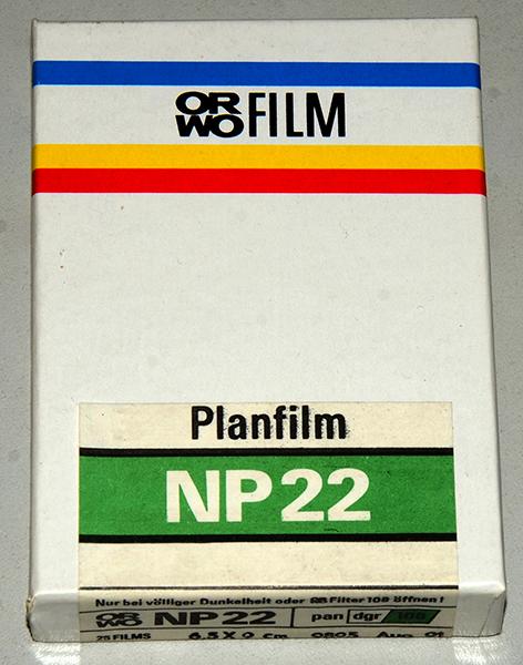 ORWO NP-22 6.5×9 cm cut sheet film