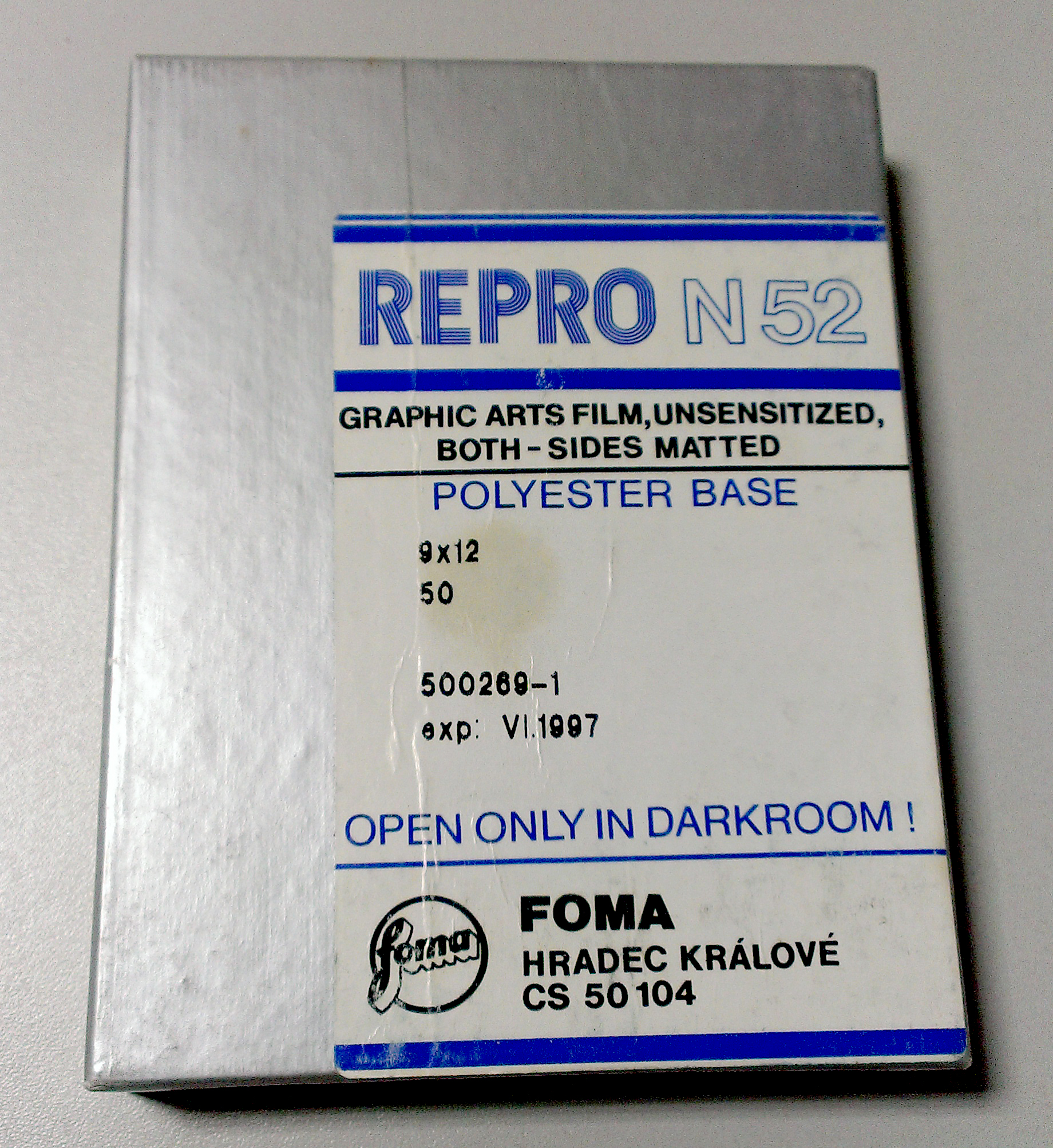 Film test: Foma Repro N52