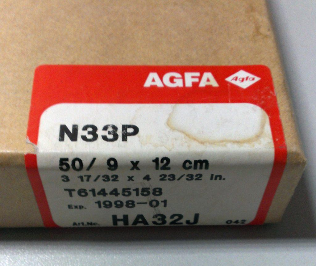 Testing AGFA Gevatone N33P cut sheet film
